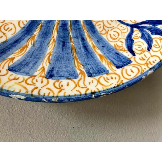 Vintage Spanish Pottery Eagle Charger For Sale - Image 4 of 6