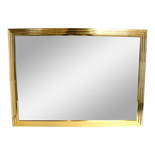 Gold Metal Framed Wall Mirror For Sale