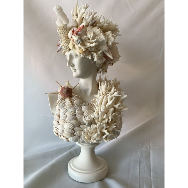 Classical Shell-Encrusted Marble Diana For Sale - Image 9 of 9