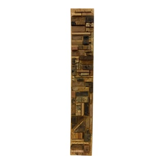 Mixed Media Wood Sculpture Wall Art For Sale