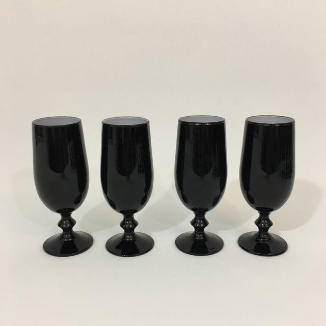 Vintage Carlo Moretti Black and White 20 Piece Glassware Set For Sale - Image 10 of 13