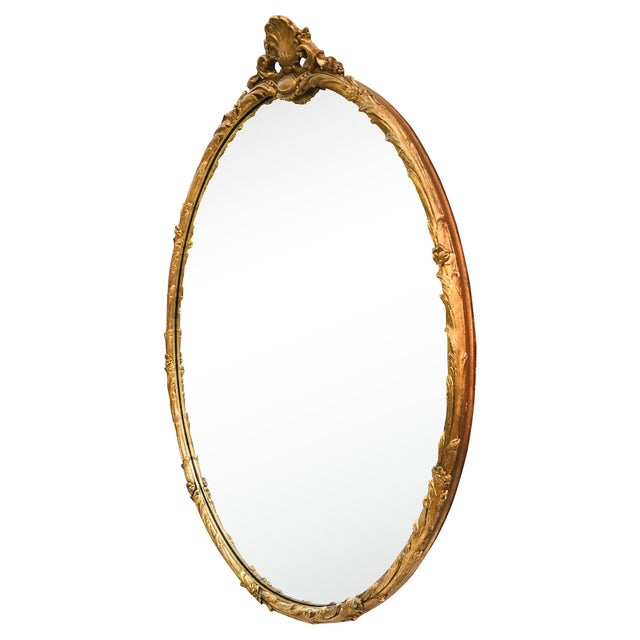 Oversized Hand-Carved Gold Mirror - Image 2 of 10