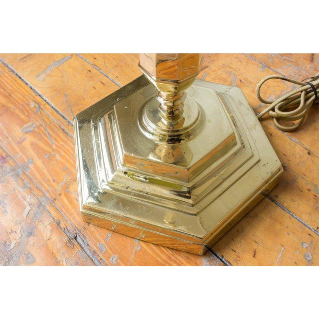 Polished Brass Floor Lamp from France For Sale In New York - Image 6 of 8