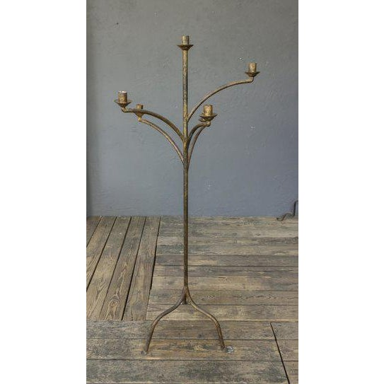 High end large five arm candelabra floor lamp decaso large five arm candelabra floor lamp image 7 of 7 aloadofball Gallery
