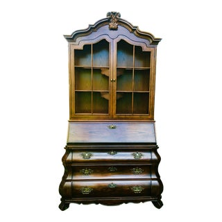 1960s Baroque Henredon Secretary Desk For Sale