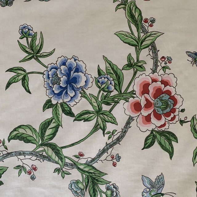 Shabby Chic Brunschwig and Fils Flowering Tree Cotton Fabric- 4 Yards For Sale - Image 3 of 7