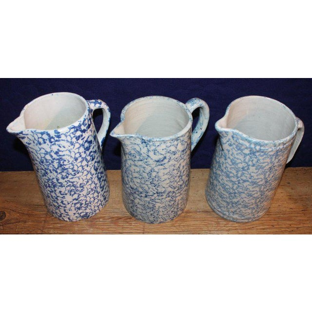Ceramic 19th Century Sponge Ware Pitchers, Nine Pcs. Collection For Sale - Image 7 of 13