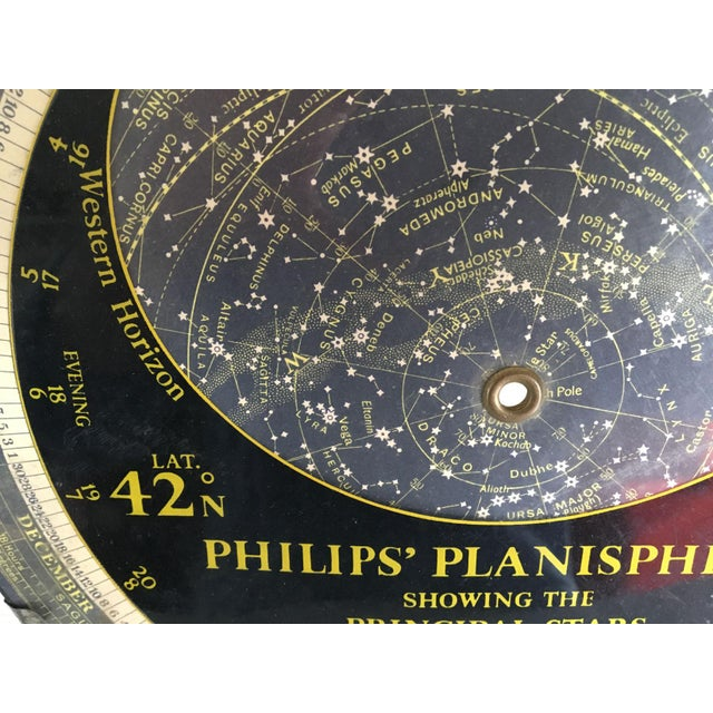 1959 Antique Philips Company Planisphere For Sale In New York - Image 6 of 7
