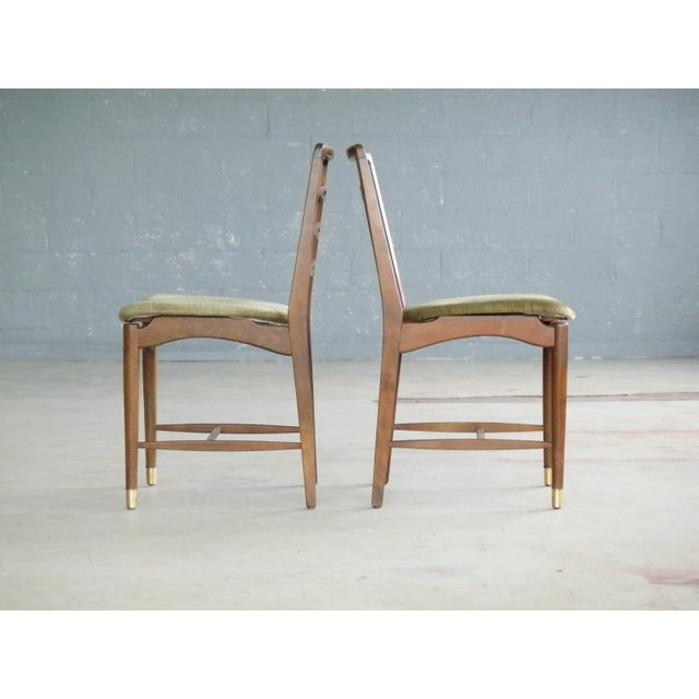 Set of Six Ole Wanscher Attributed Danish Midcentury Dining Chairs For Sale In New York - Image 6 of 10
