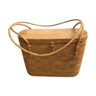 Vintage Woven Basket Purse For Sale