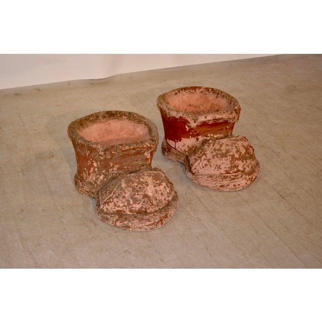 1960s Terracotta Shoe Planters- A Pair For Sale In Greensboro - Image 6 of 6