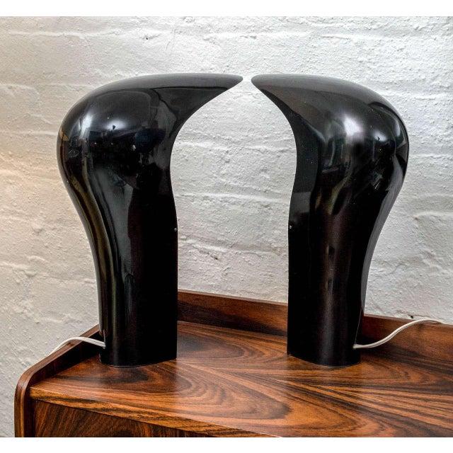 Plastic Cesare Casati & C. Emanuele Ponzio Pelota Table Lamps - A Pair For Sale - Image 7 of 8