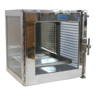 1950's Vintage Boekel Stainless Steel Medical Cabinet For Sale