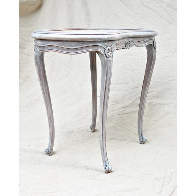 French Kidney Shape Marble Top Table For Sale In Philadelphia - Image 6 of 12