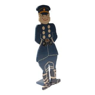 Large Folk-Art Police Officer Stand-Up For Sale