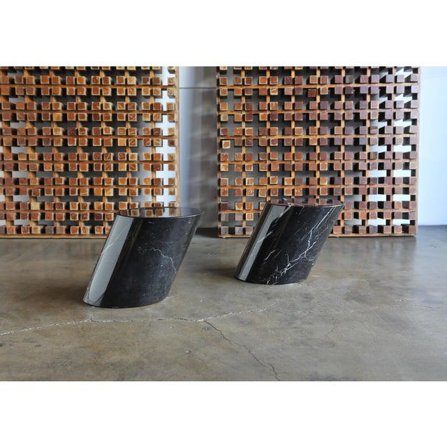 Knoll International Marble Stump Tables by Lucia Mercer for Knoll - a Pair For Sale - Image 4 of 11