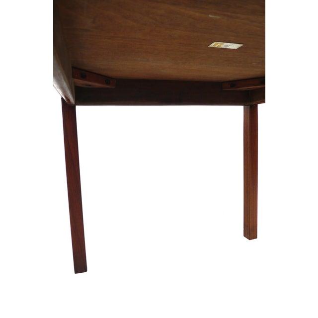 Jens Risom Danish Modern Walnut Side Table - Image 6 of 7