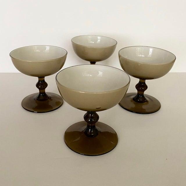 Carlo Moretti Vintage Carlo Moretti Glass Champagne Coupes-Set of 4 For Sale - Image 4 of 10