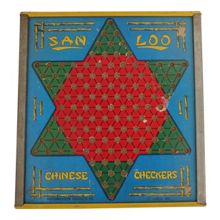 Vintage Chinese Checkers Room Wall Hanging For Sale