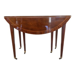 Traditional Baker Drop Leaf Mahogany Dining Table For Sale