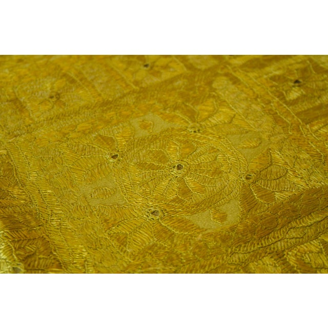 1990s Green Sheesha Coverlet For Sale - Image 5 of 8