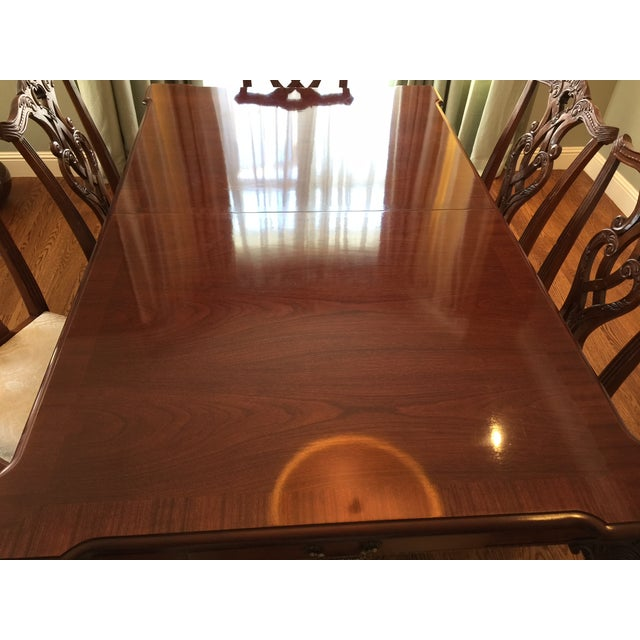 Stanley 60th Anniv Mahogany Chippendale Dining For Sale - Image 5 of 5