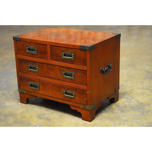 Diminutive Campaign Style Chest or Dresser by Hekman - Image 3 of 9