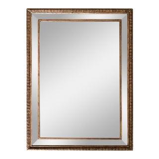 Louis XVI Style 23-Karat Water Gilt Wall Mirror with Convex Glass Border