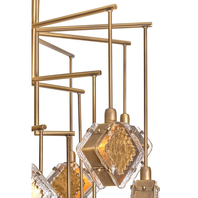 Murano Glass Gold and Bronze Chandelier For Sale - Image 12 of 13