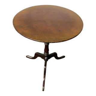 19th Century Georgian Mahogany Tilt Top Table For Sale