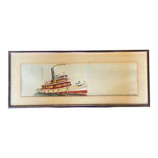 Steven Cryan Tug Boat Illustration For Sale