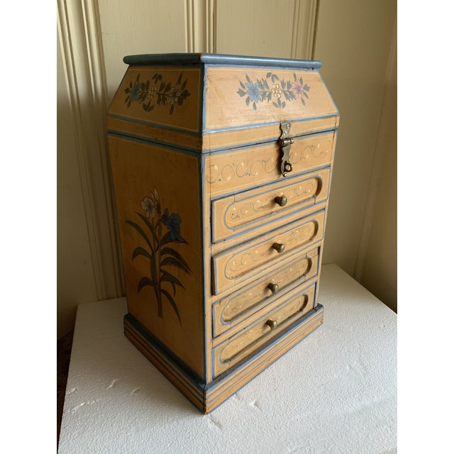 Boho Rustic Chic Jewelry Organizer Box For Sale - Image 9 of 13