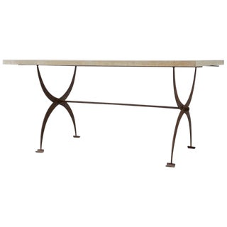 French Iron and Concrete Pastry Dining Table For Sale