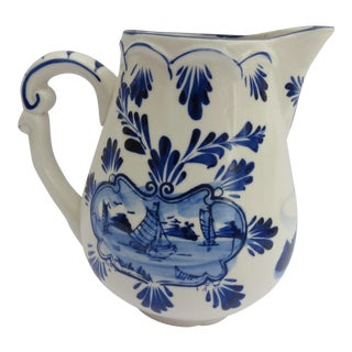 Delft Blue & White Pitcher For Sale