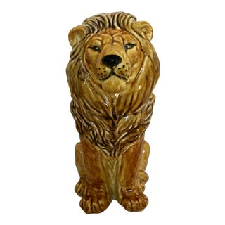 Vintage Italian Pottery Lion For Sale