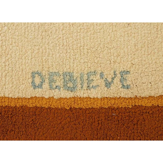 Art Deco Style Wool Rug Designed by Robert Debieve, Circa 1950 For Sale - Image 4 of 4