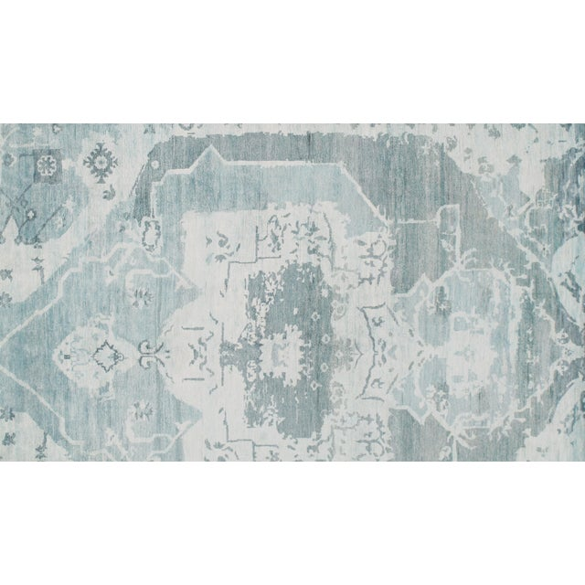 2010s Pasargad N Y Modern Bamboo Silk Hand Knotted Area Rug - 5′8″ × 7′8″ For Sale - Image 5 of 6