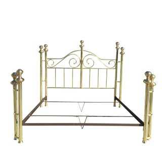 California King Size Brass Bed For Sale