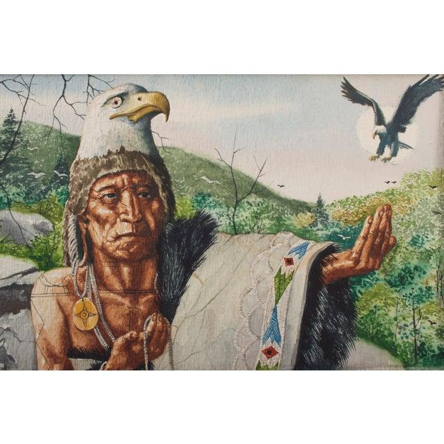 Original William Sauts Bock watercolor painting on paper. William Sauts Netamuxwe Bock is an internationally known artist...