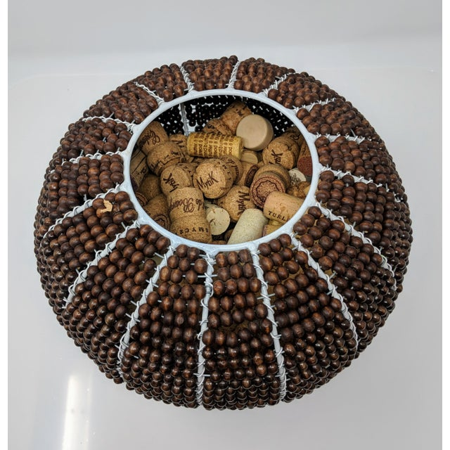 Tribal Fair Trade Beaded Vase For Sale - Image 4 of 13