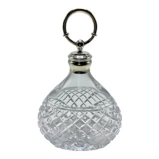 Hermes Baccarat Crystal and Silver Decanter For Sale