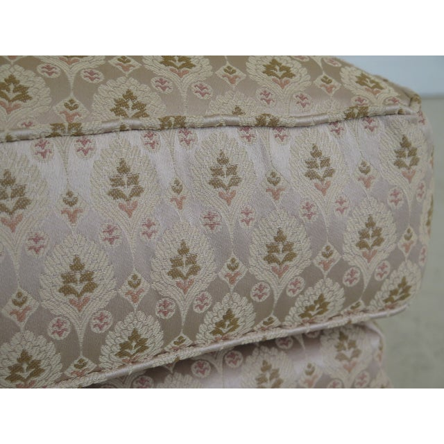 Brown 1990s Vintage Drexel Heritage French Louis XV Style Upholstered Chair For Sale - Image 8 of 11