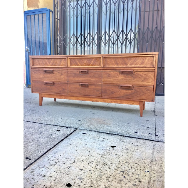 Mid-Century Dresser With Sculpted Pulls - Image 2 of 11