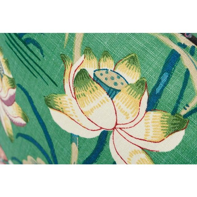 Schumacher Schumacher Double-Sided Pillow in Lotus Garden Linen Print For Sale - Image 4 of 6