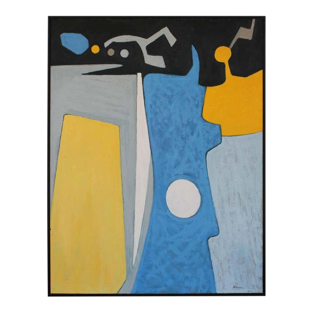 1972 Abstract Painting, Framed For Sale