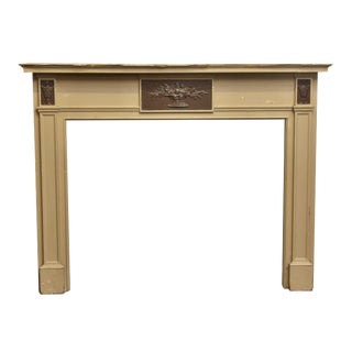 1931 Wm. H. Jackson Federal Style Wooden Mantel For Sale
