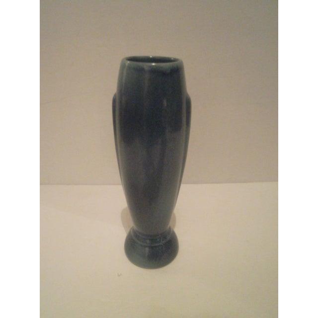 Vintage Blue Frankoma Vase - Image 4 of 9
