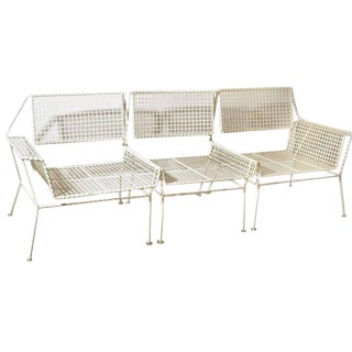 1950s American Mid-Century Modern Three-Piece Terrace Settee For Sale