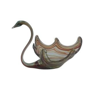 Vintage Art Glass Swan