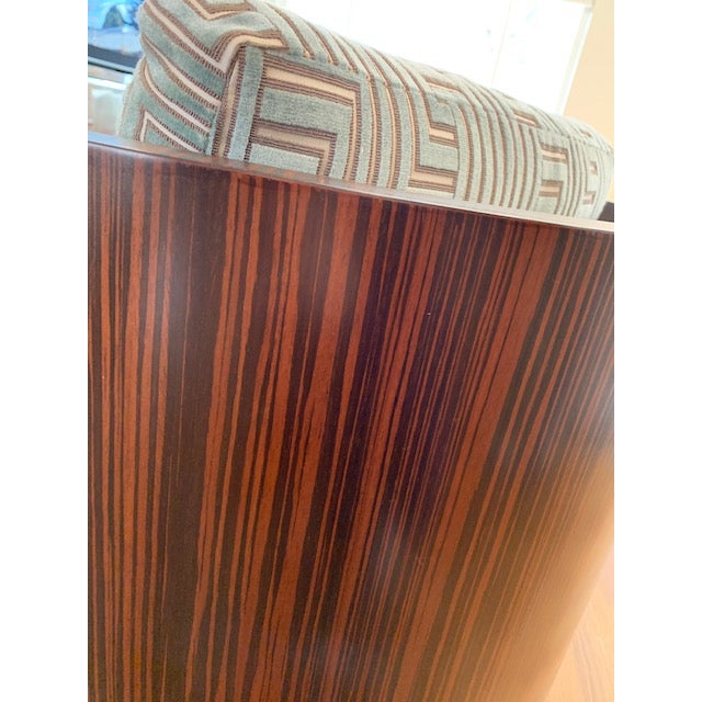 Wood Quartered Macassar Ebony Bolier and Company Chair by Michael Vanderbyl For Sale - Image 7 of 10